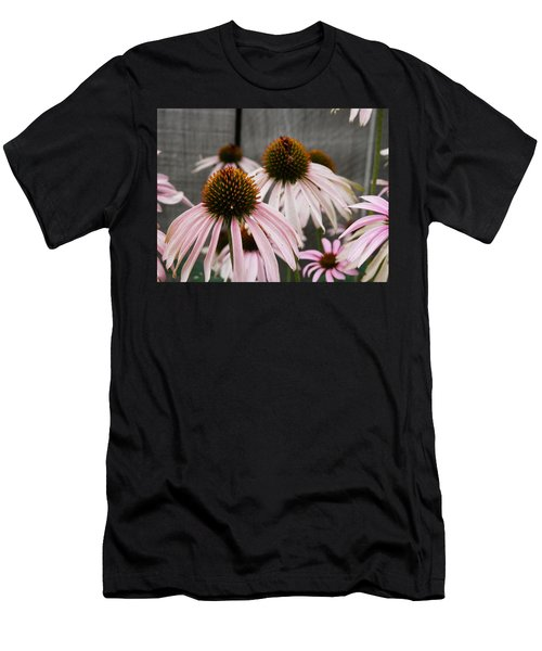 Flowers Along The Fence Men's T-Shirt (Athletic Fit)