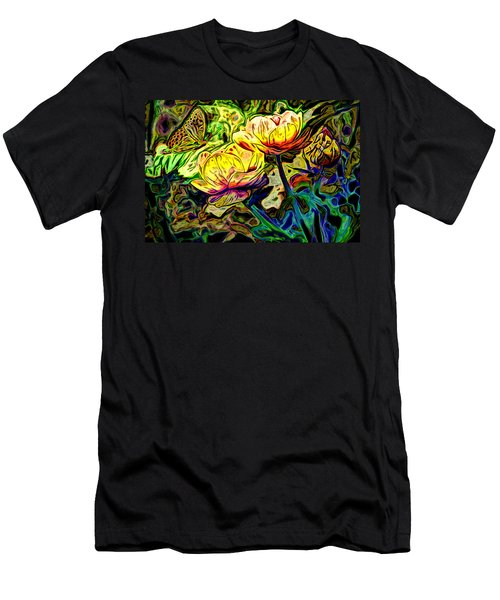 Flowers And Butterfly Men's T-Shirt (Athletic Fit)