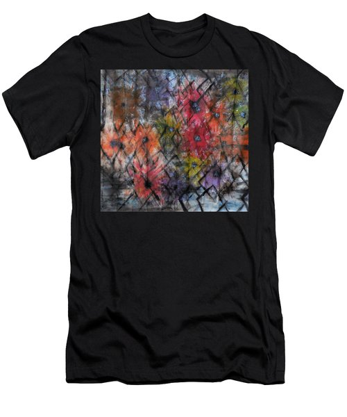 Flowers And Diamonds Men's T-Shirt (Athletic Fit)