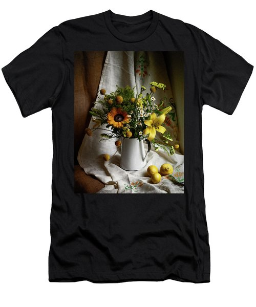 Flowers And Lemons Men's T-Shirt (Athletic Fit)