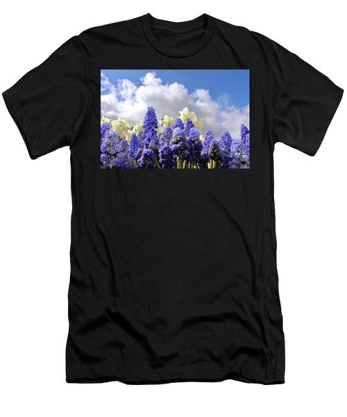 Flowers And Sky Men's T-Shirt (Athletic Fit)