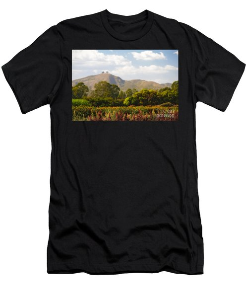 Flowers And Two Trees Men's T-Shirt (Athletic Fit)