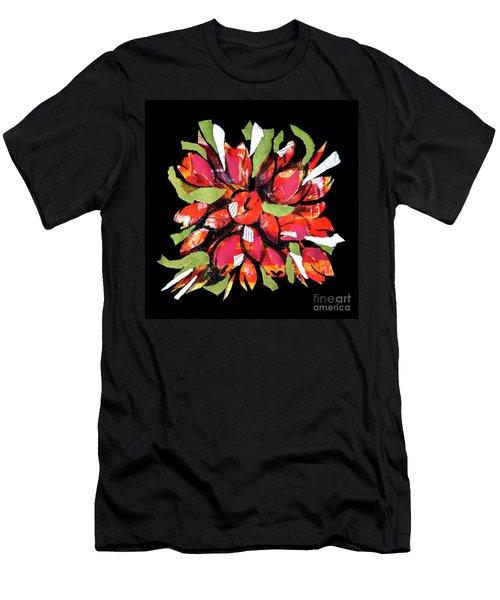 Flowers, Art Collage Men's T-Shirt (Athletic Fit)