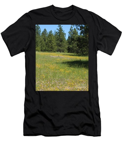 Flowers At Fish Hatchery Men's T-Shirt (Slim Fit)