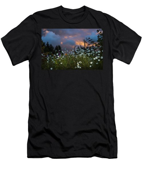 Flowers At Sunset Men's T-Shirt (Athletic Fit)
