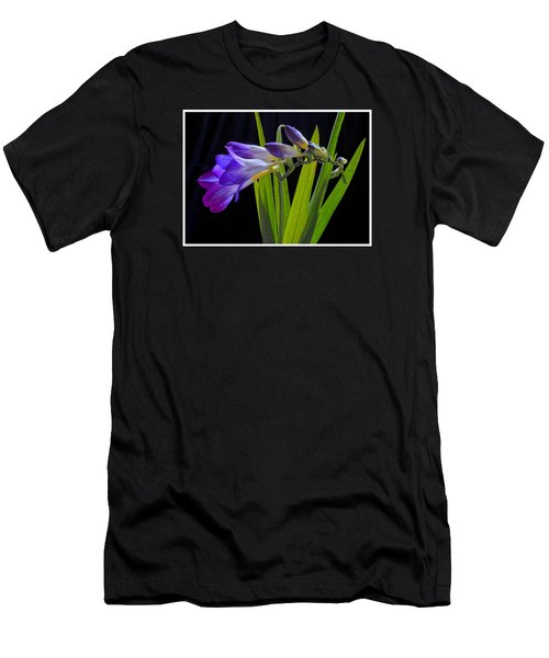 Flowers Backlite. Men's T-Shirt (Slim Fit) by Josephine Buschman