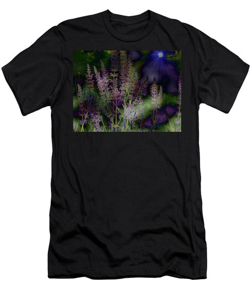 Flowers By Moonlight Men's T-Shirt (Athletic Fit)