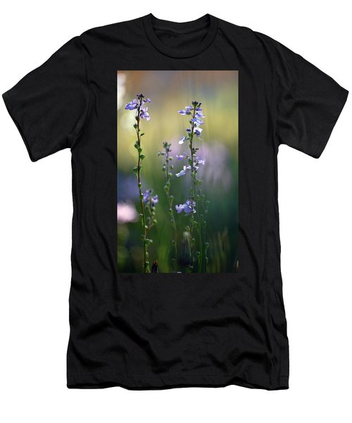 Flowers By The Pond Men's T-Shirt (Athletic Fit)