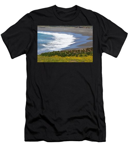 Flowers By The Sea Men's T-Shirt (Athletic Fit)