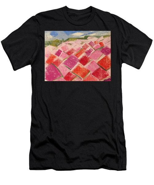 Flowers Fields Men's T-Shirt (Athletic Fit)