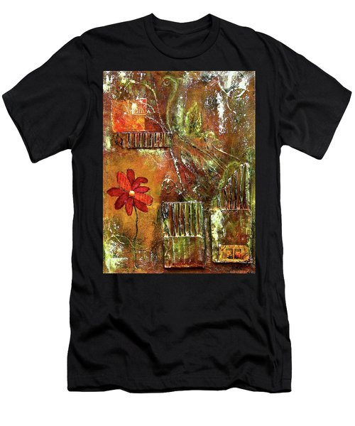 Flowers Grow Anywhere Men's T-Shirt (Athletic Fit)