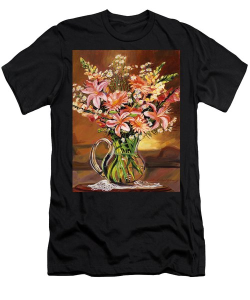 Flowers In Glass Men's T-Shirt (Athletic Fit)
