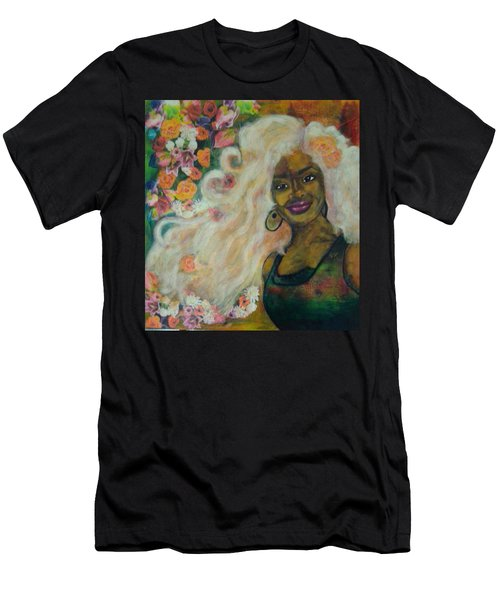 Flowers In Her Hair Men's T-Shirt (Athletic Fit)