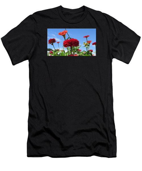 Flowers In The Blue Men's T-Shirt (Athletic Fit)