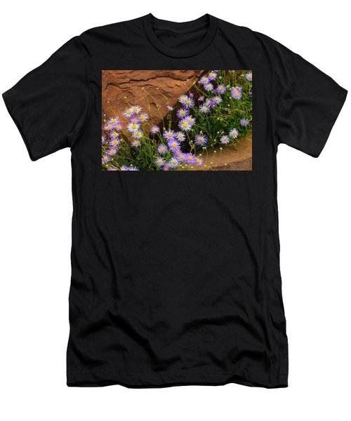 Flowers In The Rocks Men's T-Shirt (Slim Fit) by Darren White