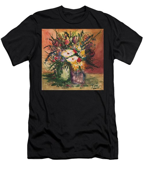 Flowers In Vases Men's T-Shirt (Athletic Fit)