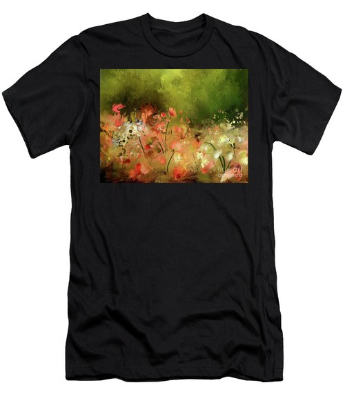 Men's T-Shirt (Slim Fit) featuring the digital art Flowers Of Corfu by Lois Bryan