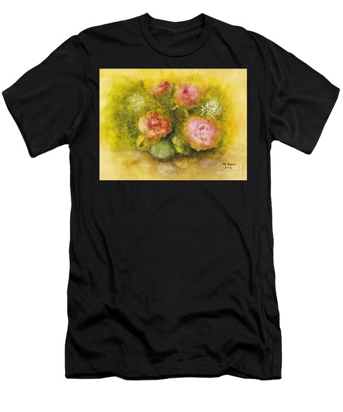 Flowers Pink Men's T-Shirt (Athletic Fit)