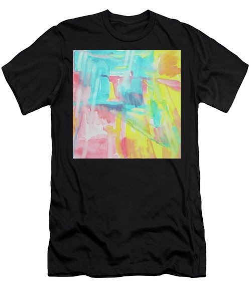 Flowers, Sky And Sun Men's T-Shirt (Athletic Fit)