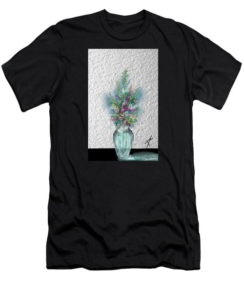 Men's T-Shirt (Athletic Fit) featuring the digital art Flowers Study Two by Darren Cannell