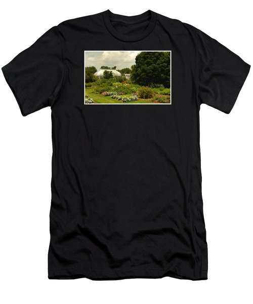 Flowers Under The Clouds Men's T-Shirt (Slim Fit)