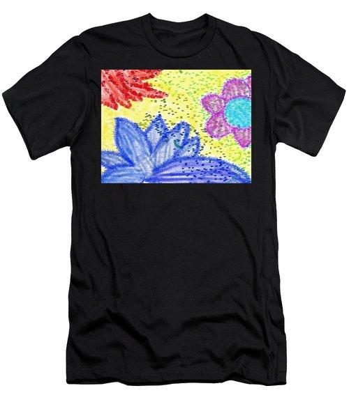 Flowery Lotus Men's T-Shirt (Athletic Fit)