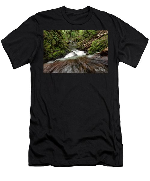 Flowing Downstream Waterfall Art By Kaylyn Franks Men's T-Shirt (Athletic Fit)