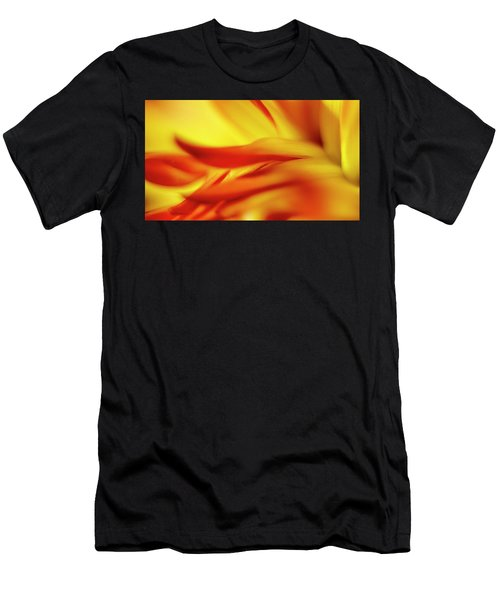 Flowing Floral Fire Men's T-Shirt (Athletic Fit)