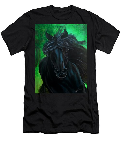 Men's T-Shirt (Athletic Fit) featuring the painting Fluing High by Thomas Lupari