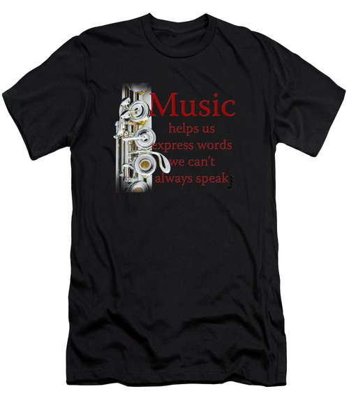 Flutes Help Us Express Words Men's T-Shirt (Athletic Fit)