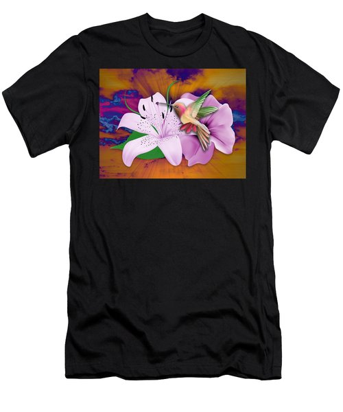 Men's T-Shirt (Athletic Fit) featuring the mixed media Fluttering by Marvin Blaine