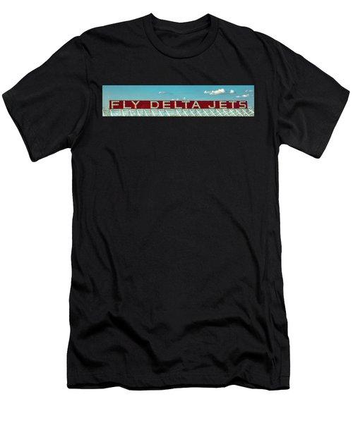 Fly Delta Jets Signage Hartsfield Jackson International Airport Atlanta Georgia Art Men's T-Shirt (Athletic Fit)