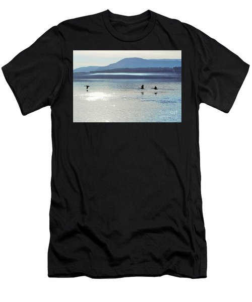 Men's T-Shirt (Athletic Fit) featuring the photograph Fly, Fly And Fly by Victor K
