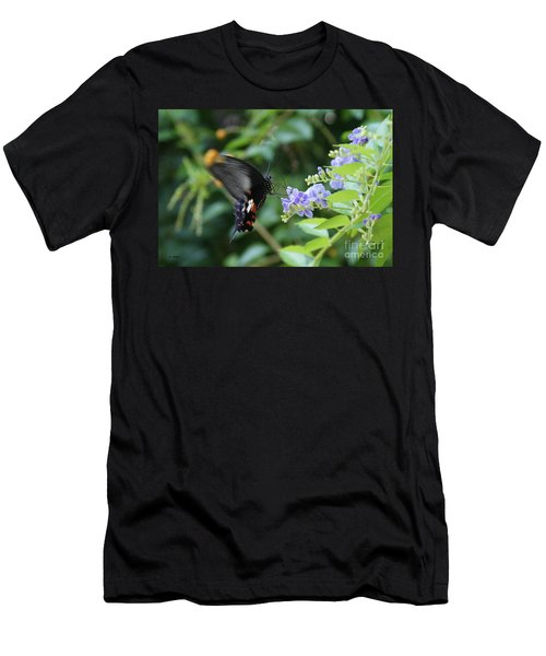 Fly In Butterfly Men's T-Shirt (Athletic Fit)