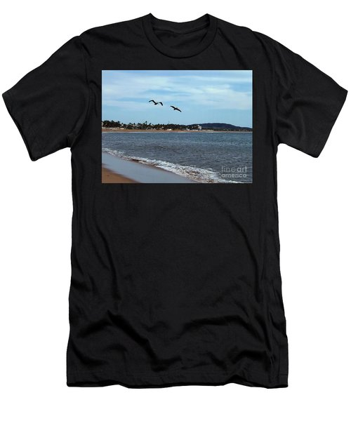 Men's T-Shirt (Athletic Fit) featuring the photograph Flying Companion by Victor K