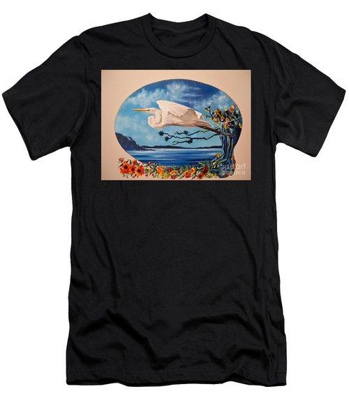 Flying Egret Men's T-Shirt (Athletic Fit)