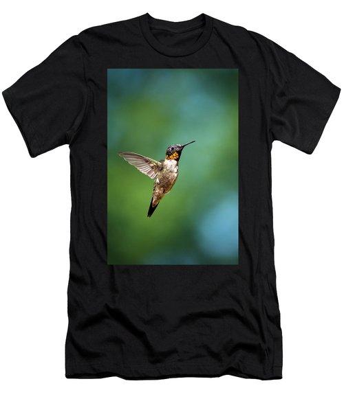 Flying Hummingbird Men's T-Shirt (Athletic Fit)