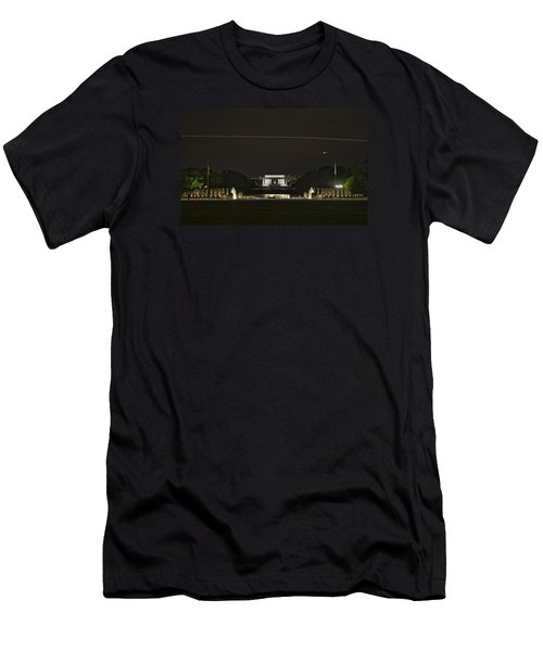Flying Over Liberty Men's T-Shirt (Athletic Fit)
