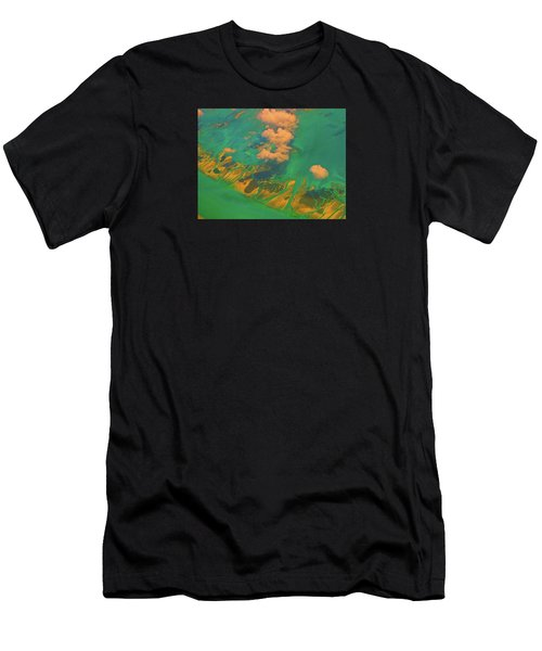 Flying Over The Keys, Florida Men's T-Shirt (Athletic Fit)