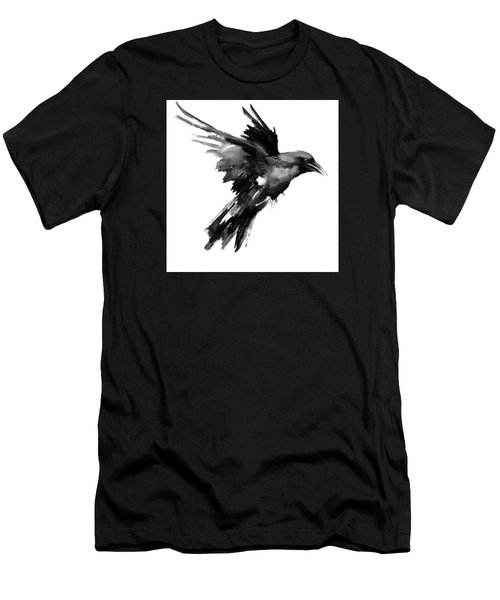Flying Raven Men's T-Shirt (Athletic Fit)