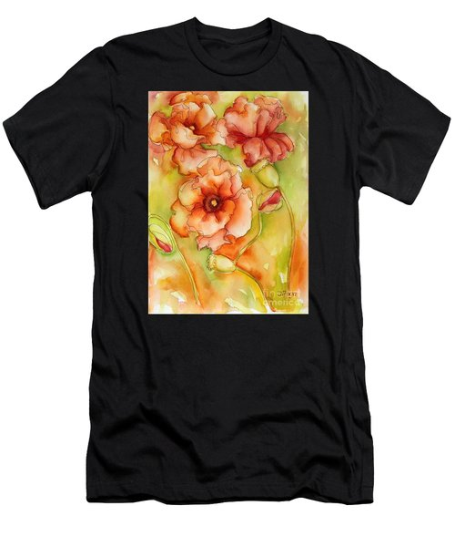 Flying With The Wind Poppies Men's T-Shirt (Athletic Fit)