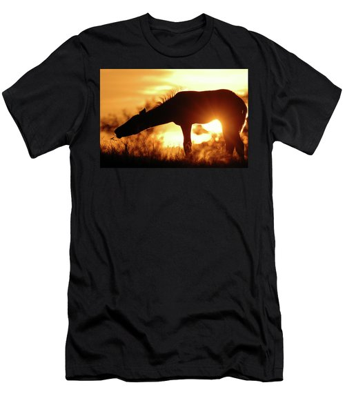 Foal Silhouette Men's T-Shirt (Athletic Fit)
