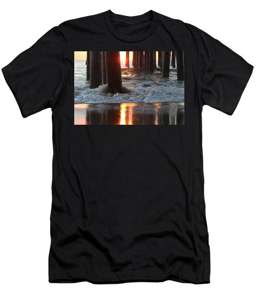 Foamy Waters Under The Pier Men's T-Shirt (Athletic Fit)