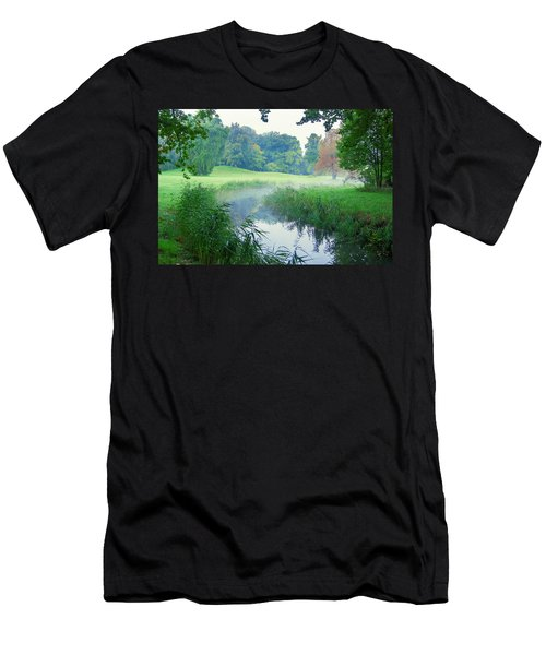 Fog Along A Creek In Autumn Men's T-Shirt (Athletic Fit)