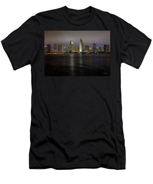 Fog Glow Over San Diego Men's T-Shirt (Athletic Fit)