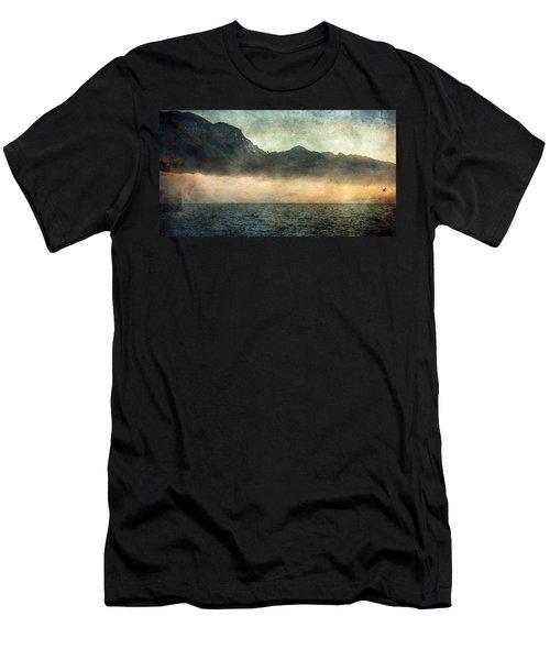 Fog On Garda Lake Men's T-Shirt (Athletic Fit)