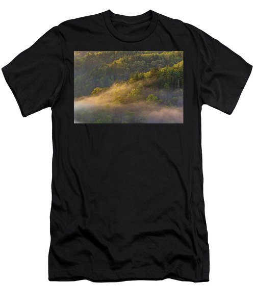 Fog Playing In The Forest Men's T-Shirt (Athletic Fit)