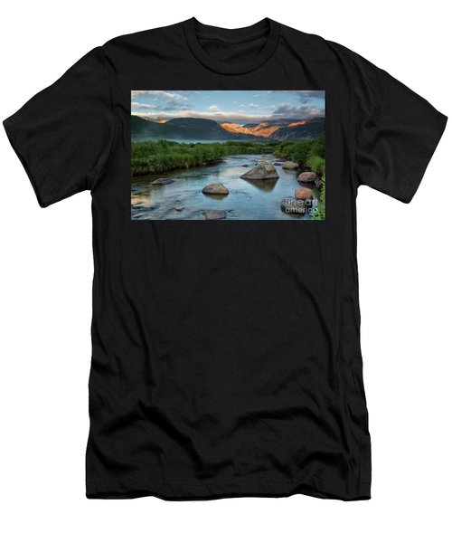 Fog Rolls In On Moraine Park And The Big Thompson River In Rocky Men's T-Shirt (Athletic Fit)