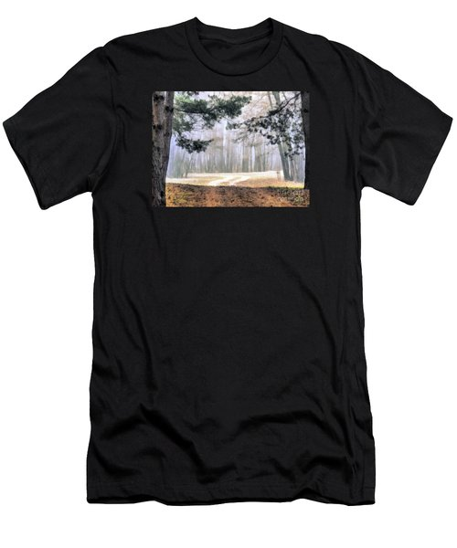 Foggy Autumn Landscape Men's T-Shirt (Athletic Fit)