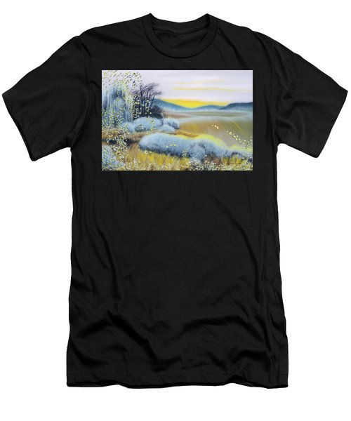 Foggy Dawn Through Window Men's T-Shirt (Athletic Fit)